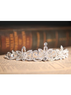 Gorgeous Clear Cristaless Flower Wedding Party Headpiece