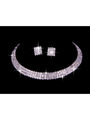 Great Czech Estrás Wedding Necklaces Earrings Set