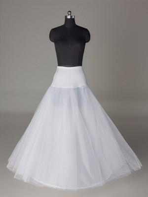 Tul Mallating A-Line 2 Tier Floor Length Slip Style Wedding Petticoat