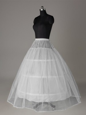 Tul Mallating Ball-Gown 2 Tier Floor Length Slip Style Wedding Petticoat