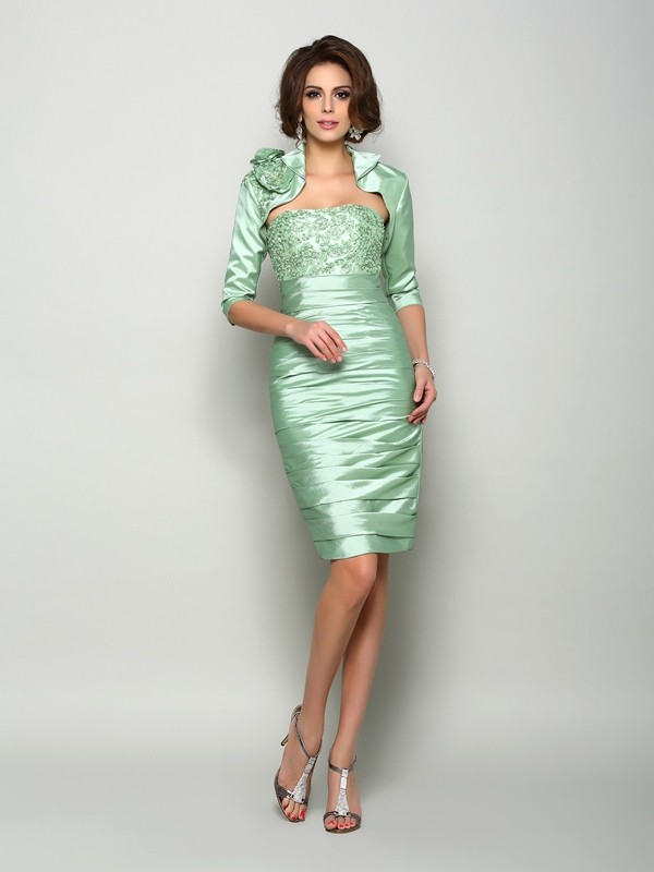 Taffeta 1/2 Sleeves Special Occasion Fashion Wrap