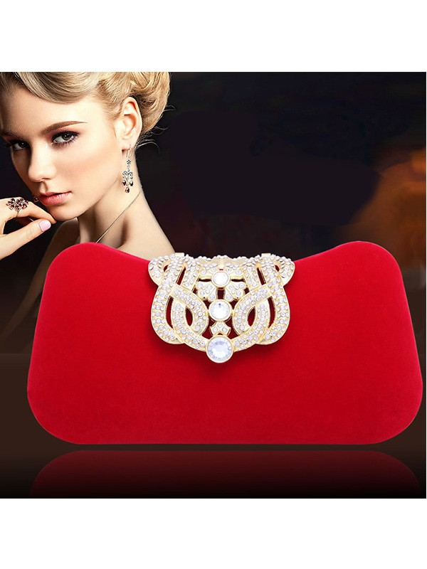 Elegant Estrás Pillow Party/Evening Bag