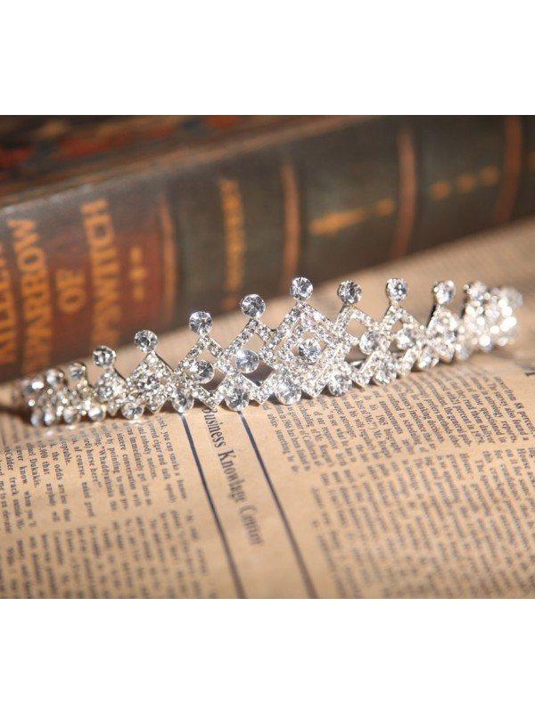 Bright Alloy With Czech Rhinestones Wedding Headpieces
