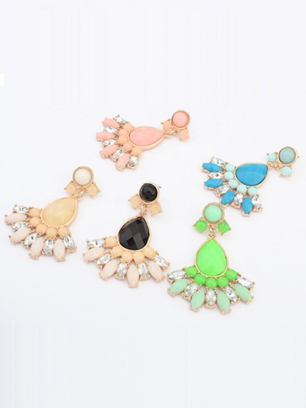 Occident Stylish Sweet Geometry All-match Fashion Earrings
