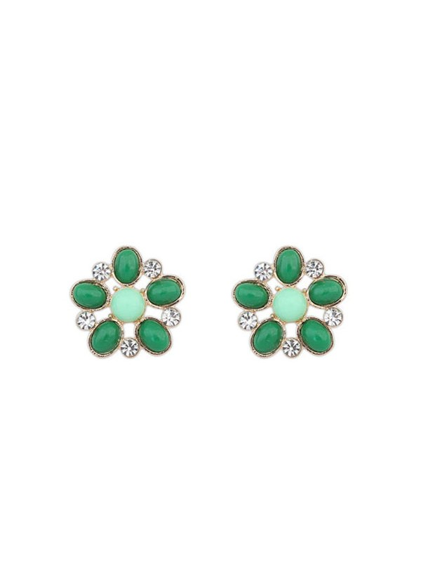 Occident Bohemia Big Flower Style Stud Fashion Earrings