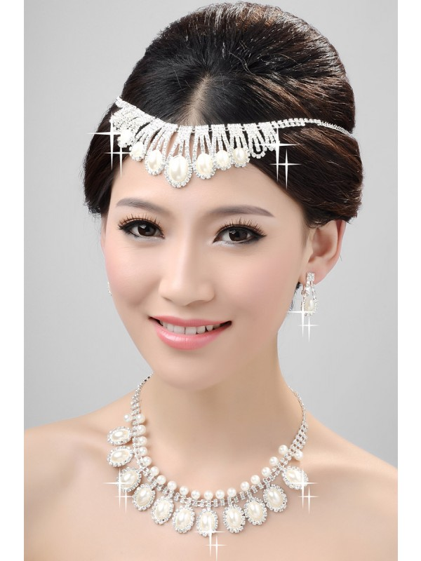 Nice Alloy Clear Cristaless Wedding Party Earrings Set