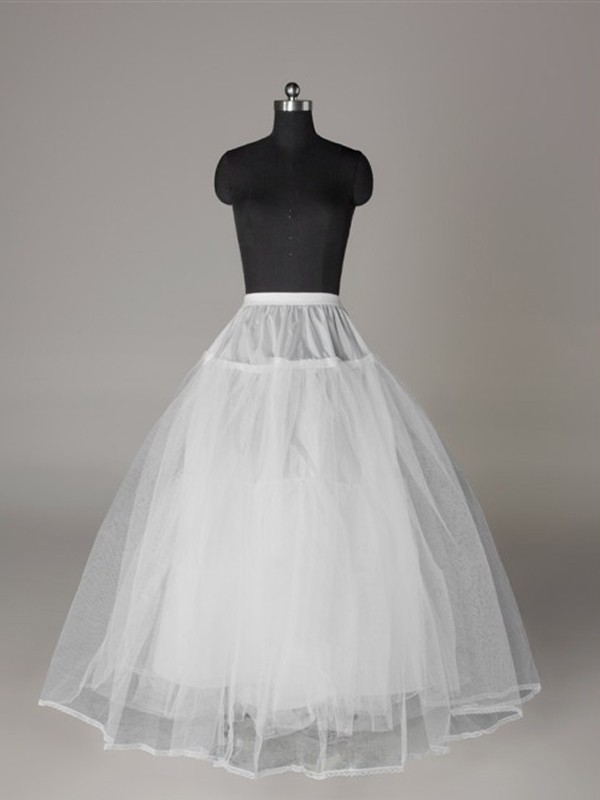 Tul Mallating Ball-Gown 3 Tier Floor Length Slip Style Wedding Petticoat
