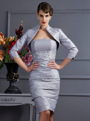 3/4 Sleeves Taffeta Special Occasion Fashion Wrap