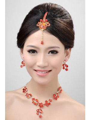 Awesome Alloy Cristaless Wedding Party Earrings Set