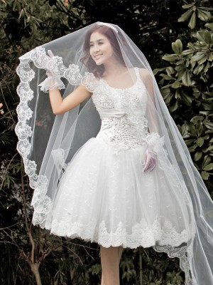 Gorgeous Tul With Encaje Wedding Veils