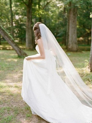 Elegant Tul Largo Wedding Veils