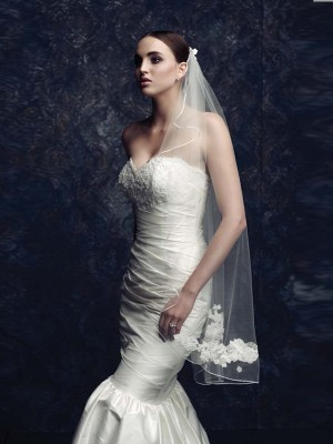Elegant Tul With Bordado Bridal Veils