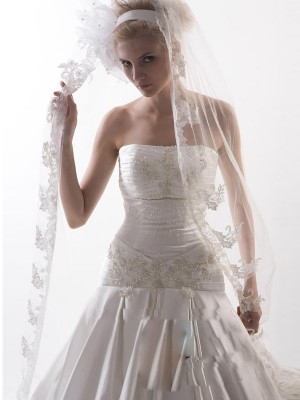 Flower Tul Bridal Veils