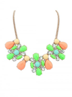 Occident Street shooting Collision color Exquisite Simple Fashion Necklace