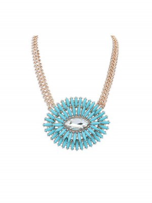 Occident Fashionable Oval Simple Fresh Fashion Necklace