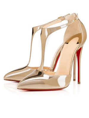 Patent Leather Closed Toe Stiletto Heel Dorado Sandals Shoes