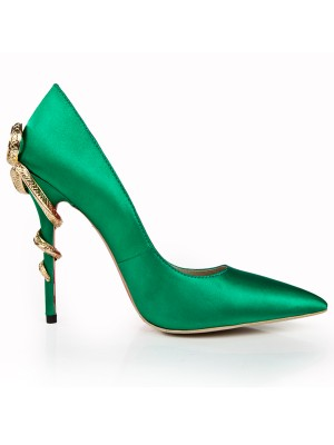 Stiletto Heel Closed Toe With Estrás High Heels